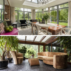 Images of conservatories for a blog post by London based architects, Extension Architecture, examining the advantages and disadvantages of conservatories and home extensions.