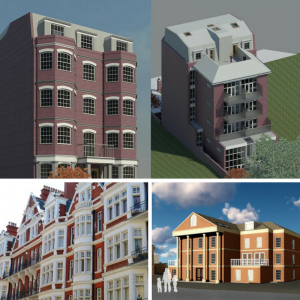 Image of some of the London properties Extension Architecture have changed the use of.