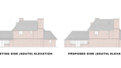 Surrey-Esher-Single-Storey-Extension-Existing-And-Proposed-Side-Elevation-South