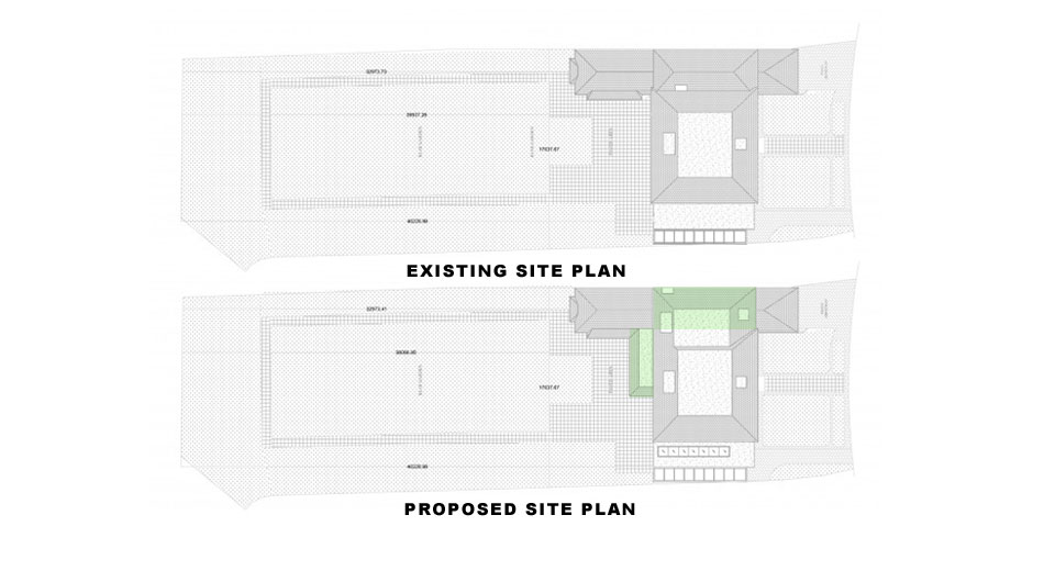 Surrey-Esher-Single-Storey-Extension-Existing-and-Proposed-Site-Plan