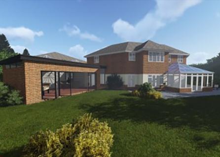Modern extension in Elmbridge