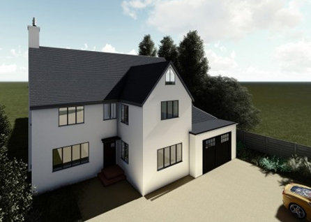 Double storey extension in Banstead