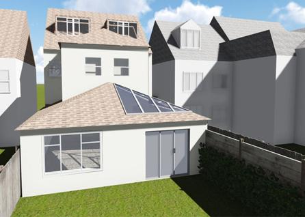 Single storey extension in Croydon