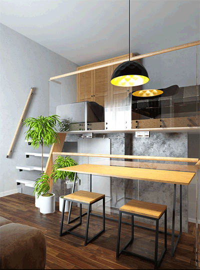 3D render of interior on article for new build