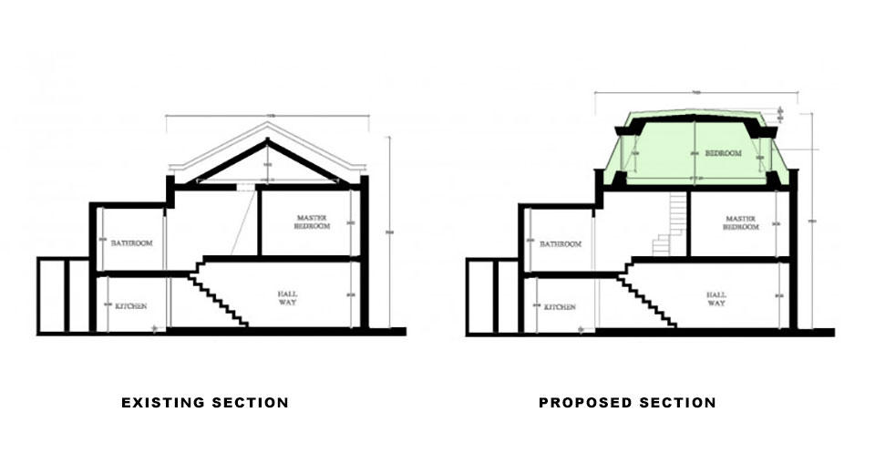 Chelsea home loft conversion for Mansard roof section