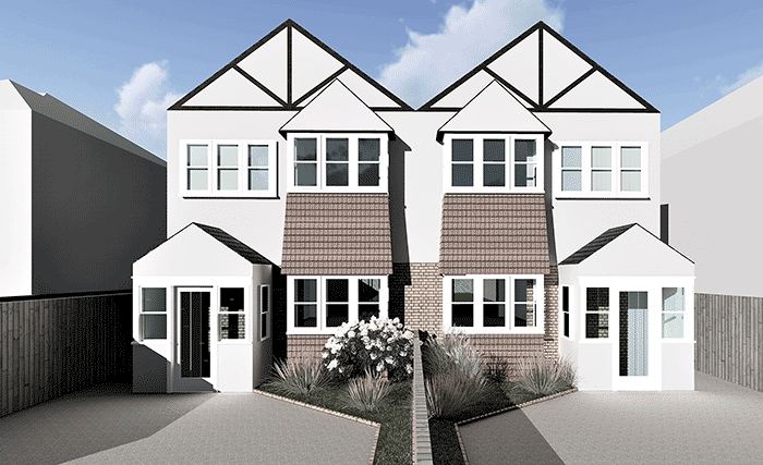 exterior render for Ambitious Development in Epsom