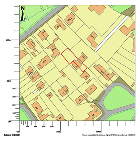 OS map for article on reconfiguration in leafy conservation area