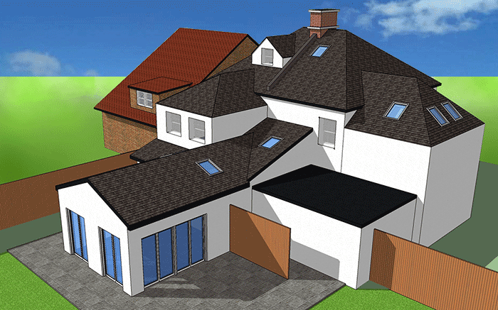 render for article on reconfiguration in leafy conservation area
