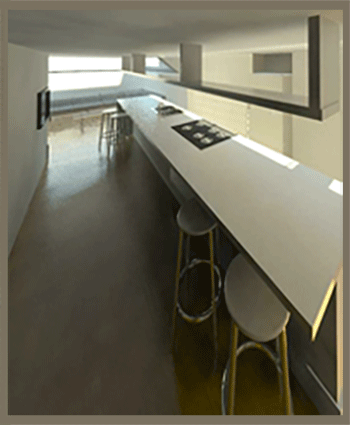 breakfast bar render for portfolio article on Side and rear extensions