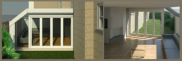 3d render for article: side and rear extension, Wandsworth
