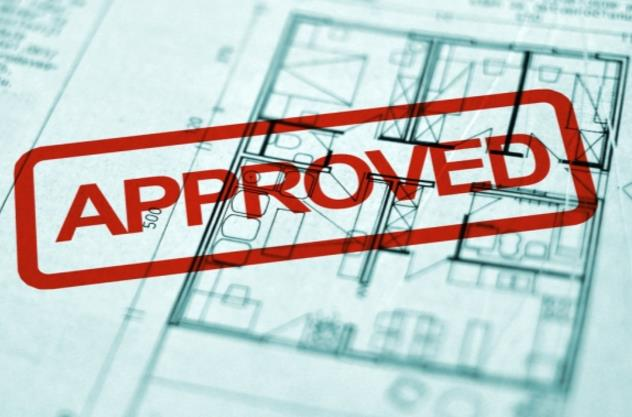 approved stamp for article on Planning Permission for Extension