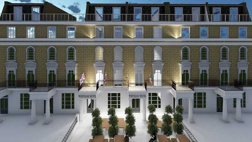 render for hotel article by new build architects