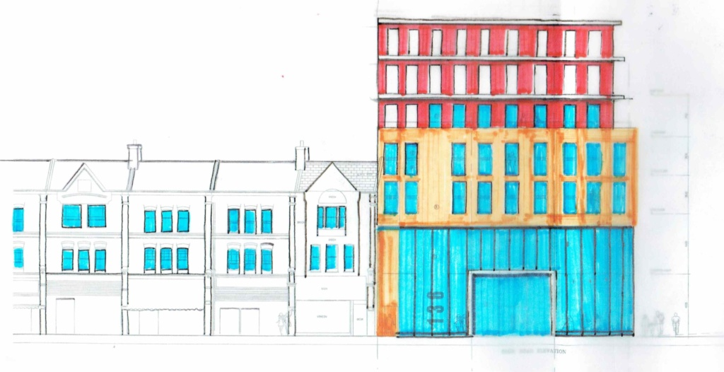 Proposed-Elevation-Building for New Developments North London portfolio article