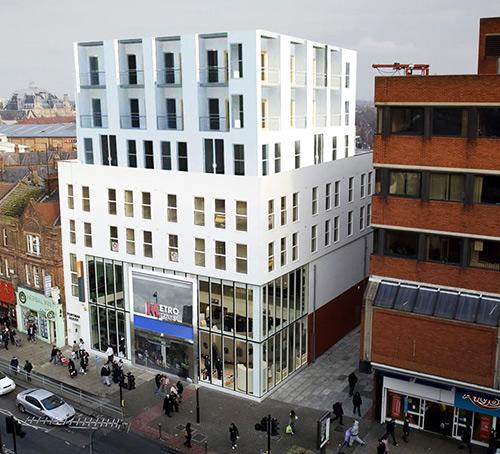 artist's impression of finished development on portfolio for New Developments North London