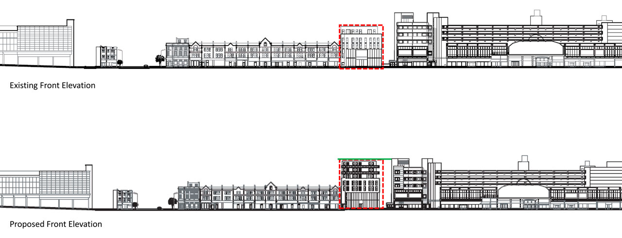 Existing-Elevation for New Developments North London portfolio article