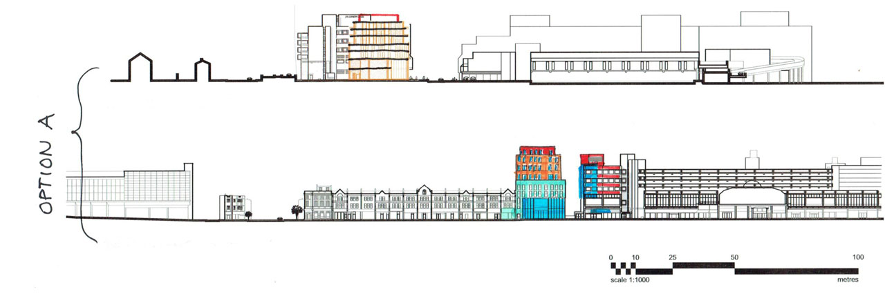 Proposed Elevation Option A for New Developments North London portfolio article