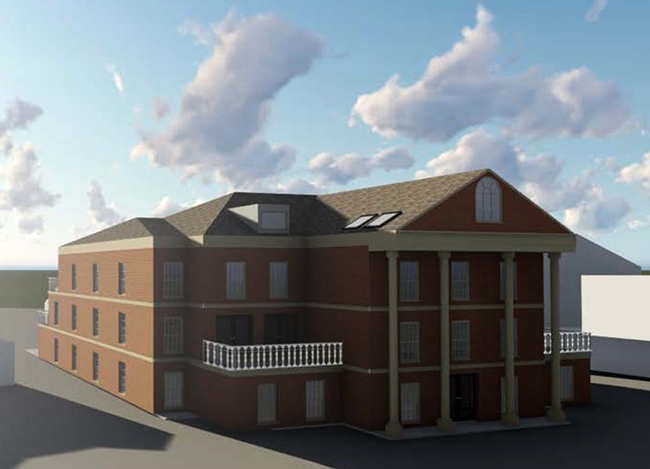 feature image of render for portfolio project on new build flats