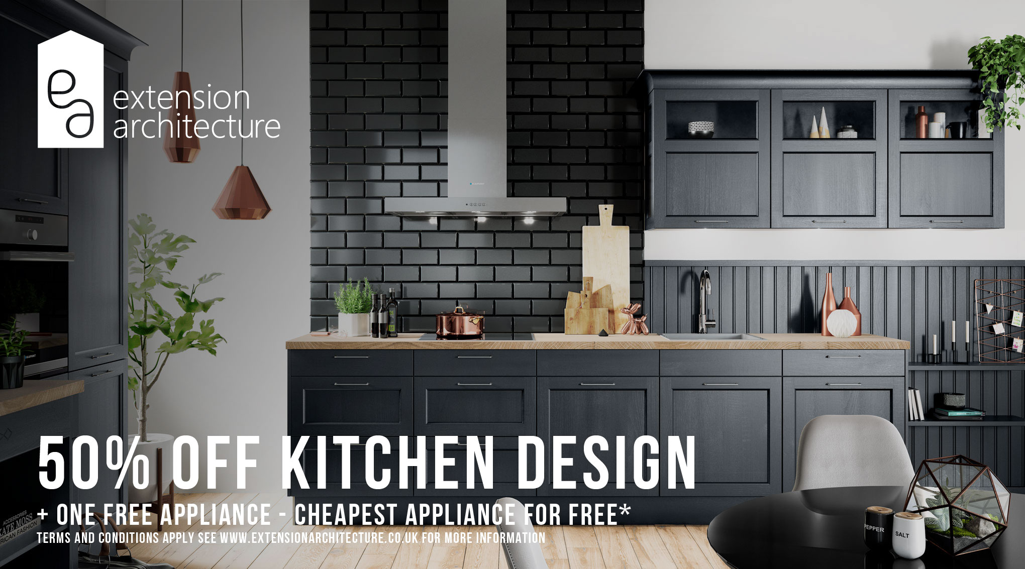 50% OFF Kitchen Design Service - Extension Architecture London
