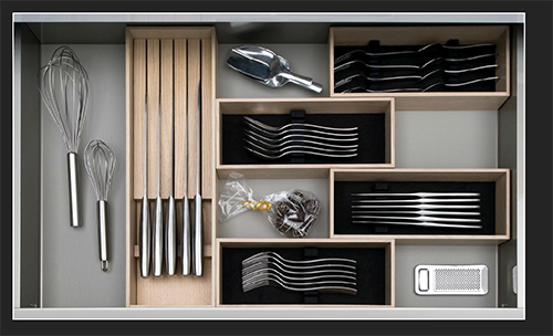 image of kitchen drawer for blog on German kitchen design