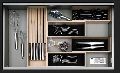 image of kitchen drawer for blog on German kitchen design