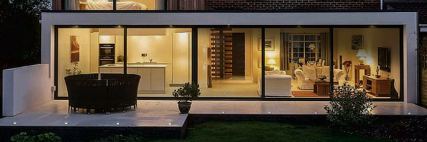 modern rear extension for blog on new build homes