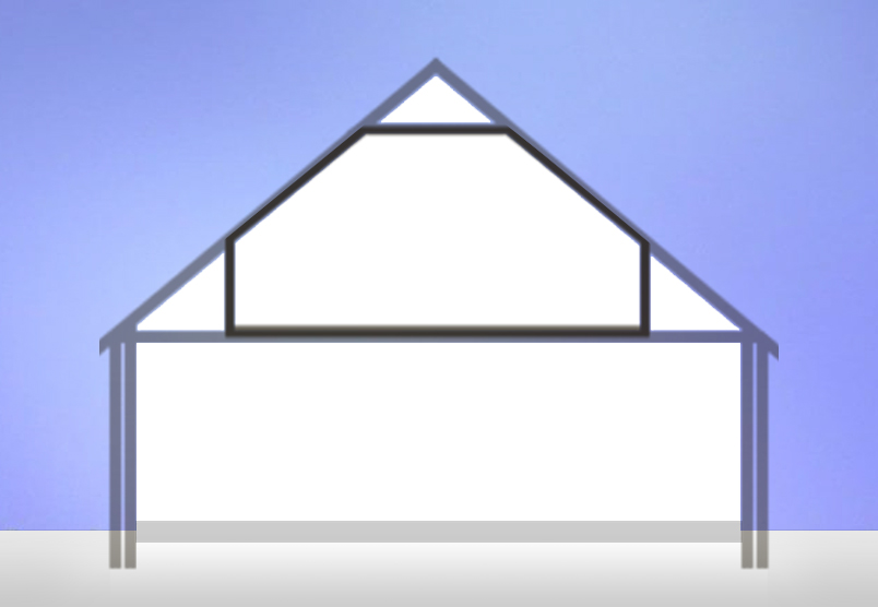 diagram of frame which replaces truss in blog on Different Types of Loft Conversion