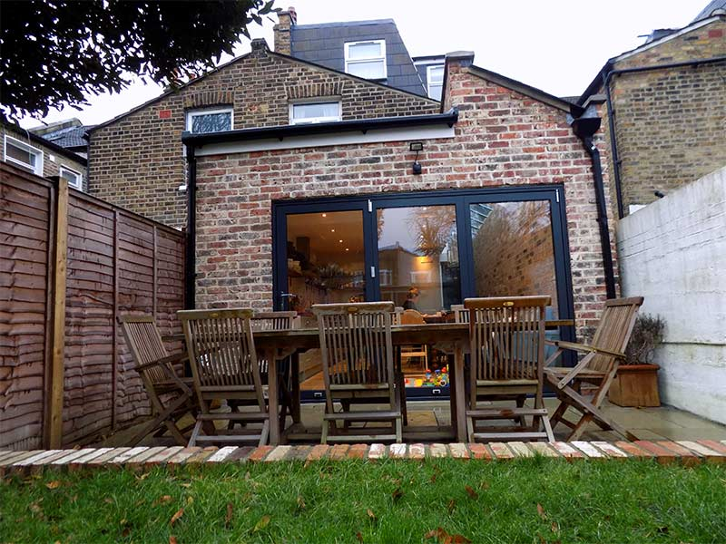exterior image of extension from garden for blog on Rear Extension Ideas