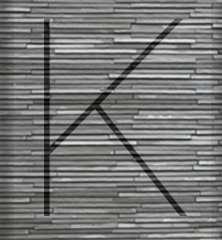 Decorated letter K for article on cost of extensions by Extension Architecture