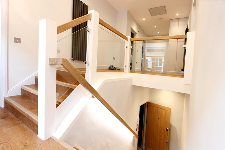 mezzanine stairs photo for blog on Stylish Loft Conversion & Reconfiguration