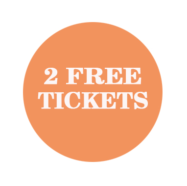 circle with 2 free tickets