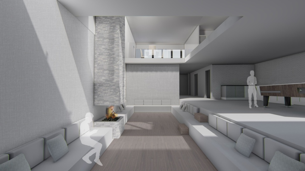 17 New Street Hill; Void Perspective, New Build, and Interior Person