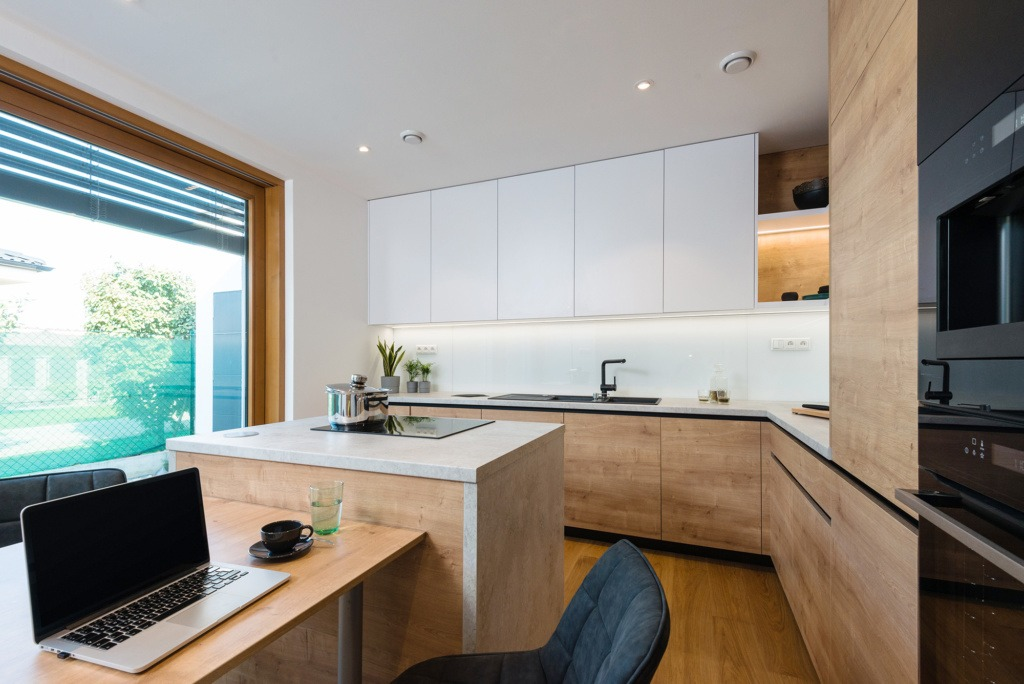side extension kitchen office idea