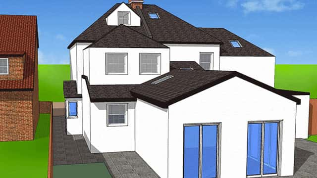 Double storey house plan