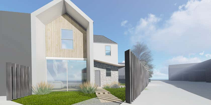 new build model design front of house