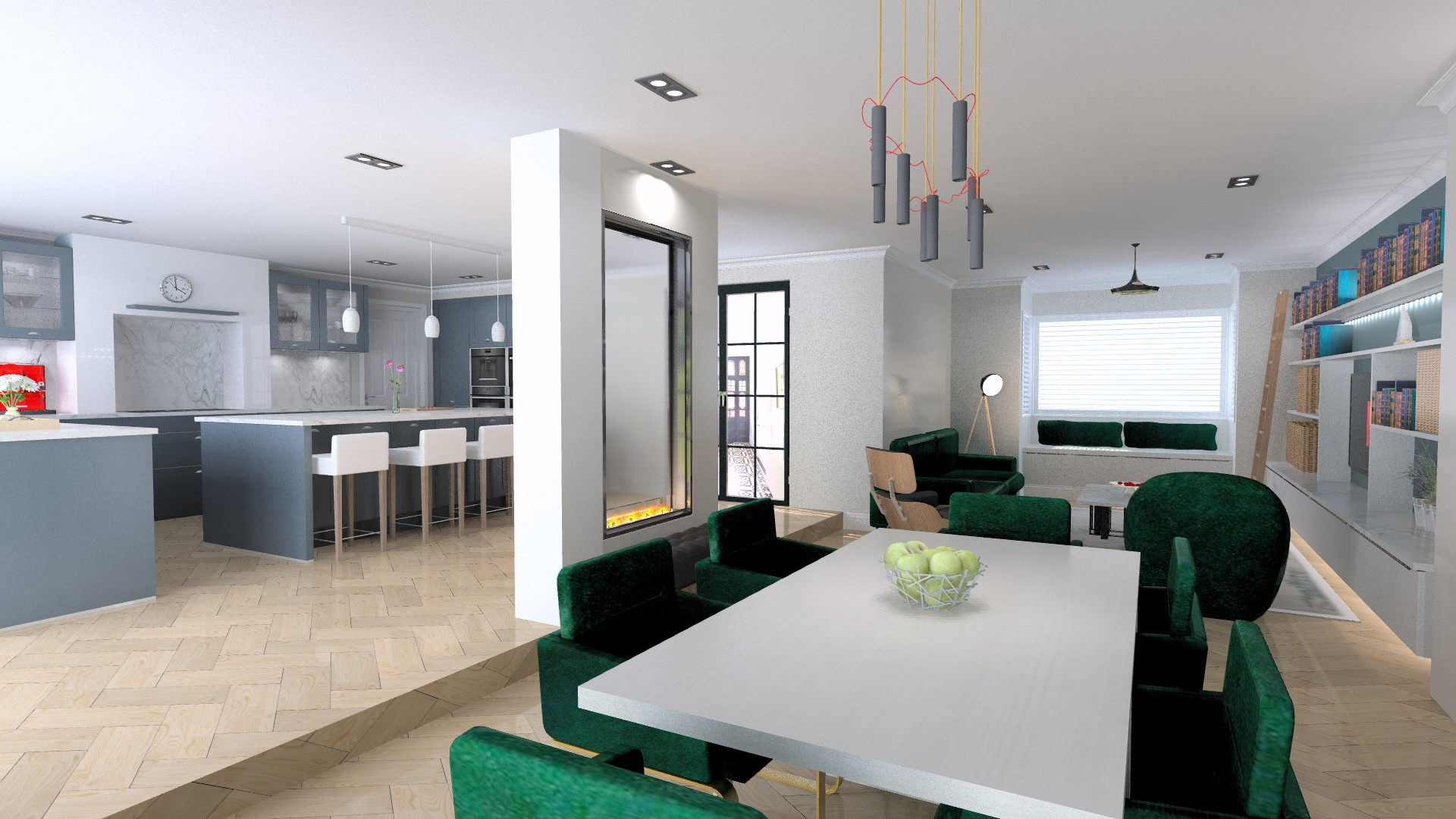 dinning room and kitchen extension
