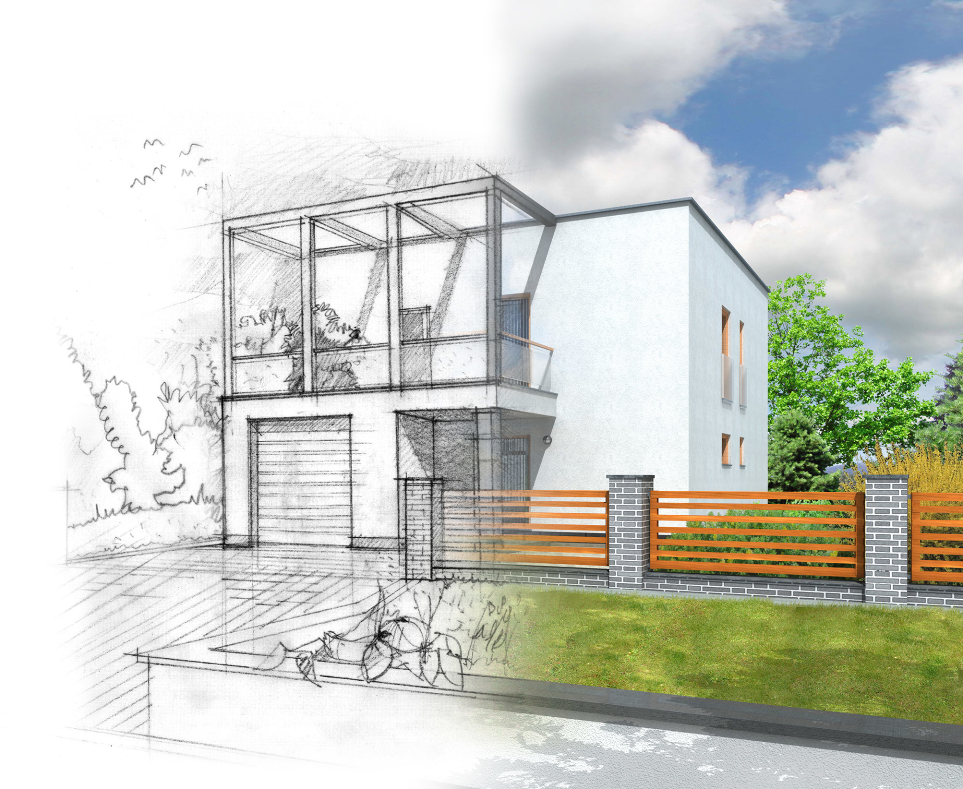 double storey extension drawing