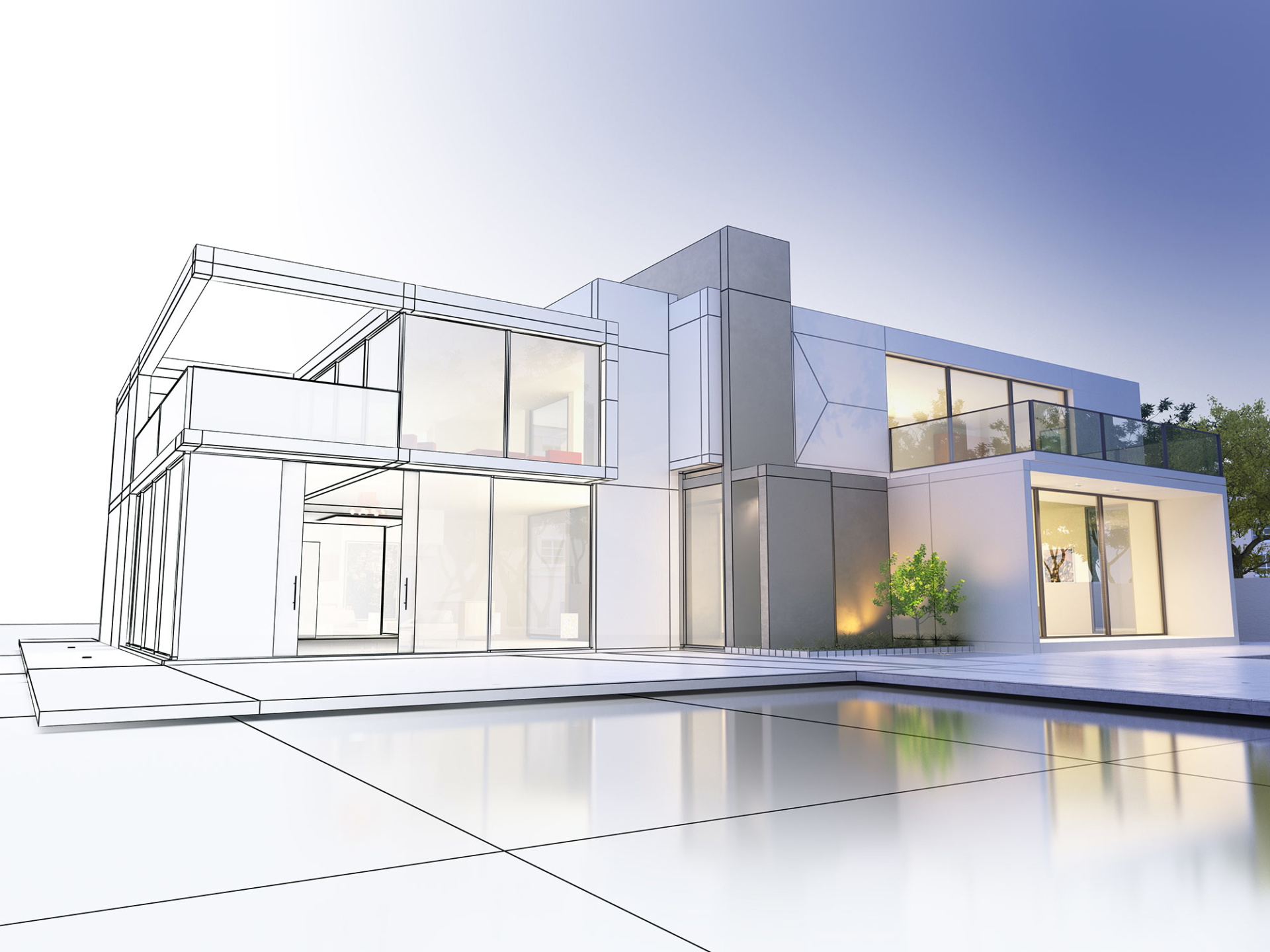 double storey side extension blueprint